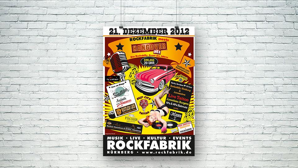 Plakat Design Hangover Bar