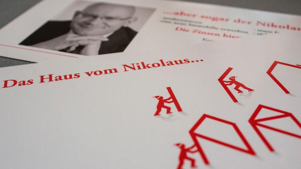 Weihnachtskarte für den Unternehmensberater Bodo Mikulasch