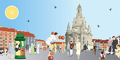 Retro Illustration für den Rahmel Verlag
