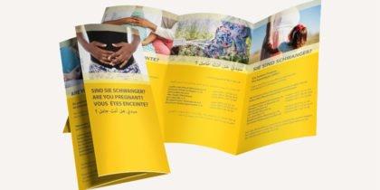 Flyer für die Caritas Nürnberg