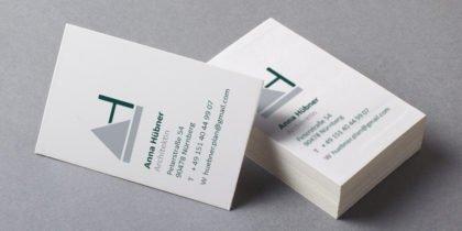 Logo und Visitenkarte Anna Hübner