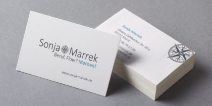 Logo und Visitenkarte Sonja Marrek
