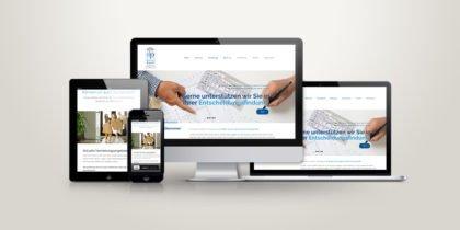 Webdesign für die deffner & pusl Liegenschaftsverwaltung OHG