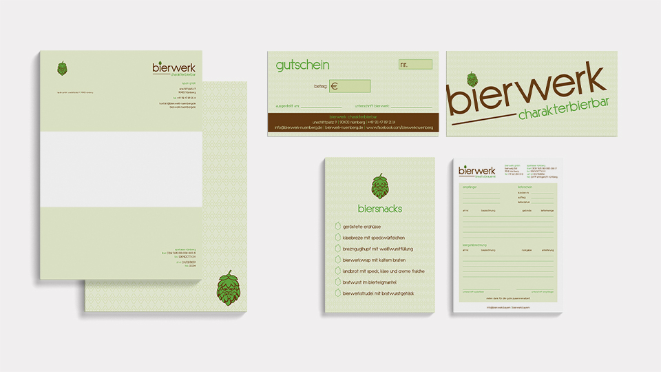 Corporate Design bierwerk kreativbrauerei