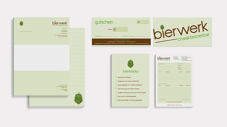 Corporate Design bierwerk kreativbrauerei