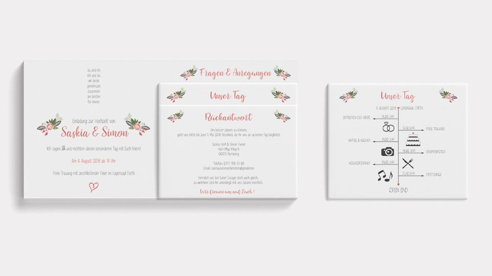 Gestaltung individueller Hochzeitskarten für den schönsten Tag im Leben